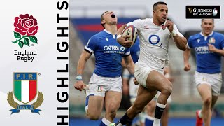 England v Italy HIGHLIGHTS 8 Tries Scored In High Scoring Match 2021 Guinness Six Nations
