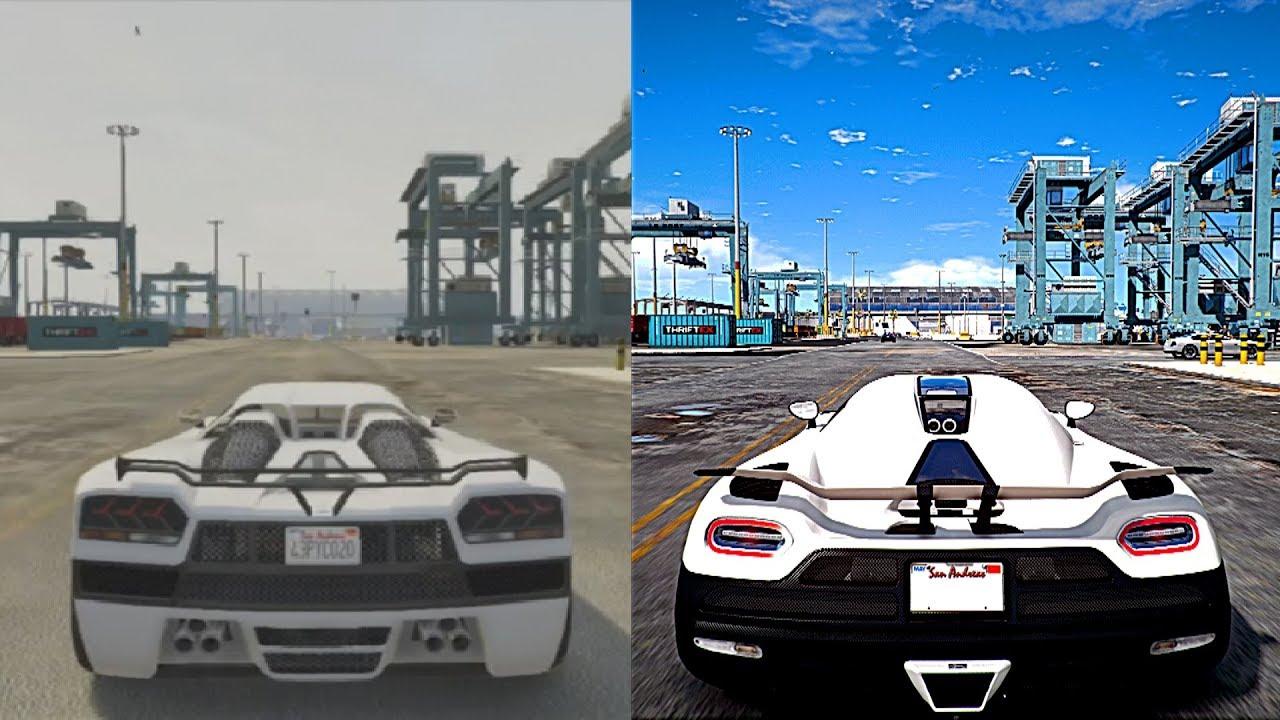 ► GTA 5 XBOX 360 VS Ultra 4K 60FPS PC Graphics | 2018 REDUX Gameplay!  Realistic Graphic ENB MOD