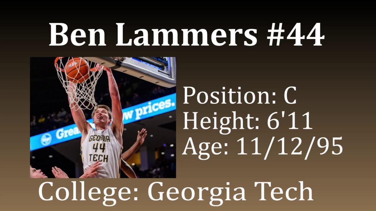 Ben Lammers (Sr) C vs Boston College - Preseason Draft Video!!