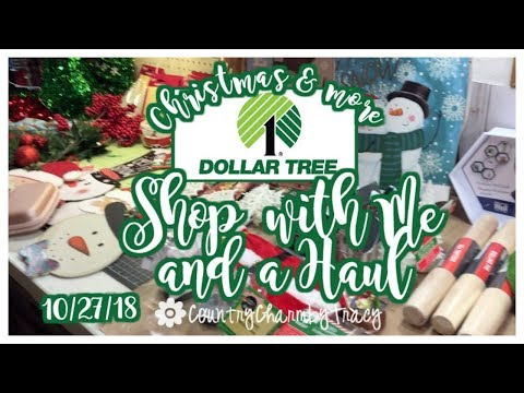 DOLLAR TREE Christmas SHOP WITH ME and HAUL | October 27, 2018