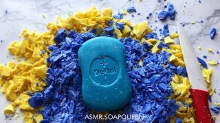 Summer Colors - Hard Dettol soap cutting ASMR/ SATISFYING VIDEO