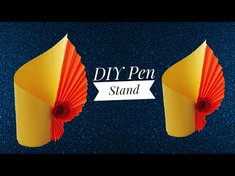 DIY Paper Pen stand| Paper Craft |Pen holder|ArtHolic KM