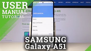 02. How to Activate User Manual in Samsung Galaxy A51 – Enter User Guide