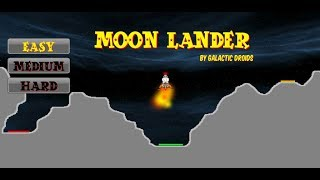 Moon Lander, classic game now for your Android device