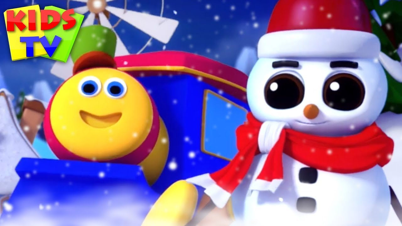 Christmas Snowman | Bob The Train Cartoons | Xmas Songs & Carols for Kids | Nursery Rhymes