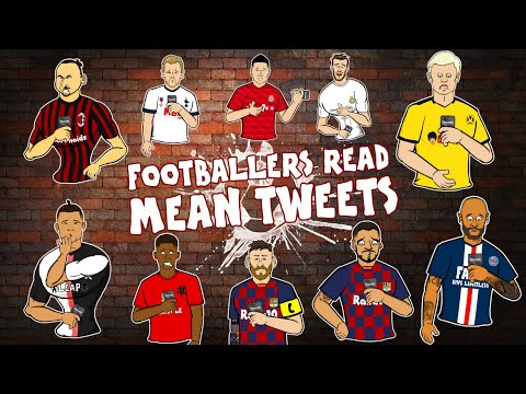 😥Footballers Read Mean Tweets😥 Feat Frontmen (Ronaldo Zlatan Messi Neymar Parody)