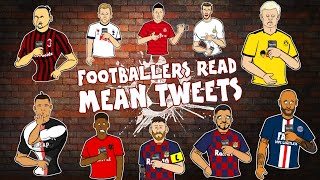 😥Footballers Read Mean Tweets😥 Ronaldo Zlatan Messi Neymar & more! Frontmen Season 1.9