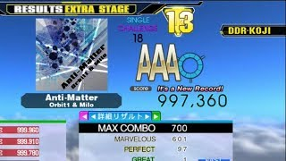 [DDR A]Anti-Matter[Single-CHALLENGE]997,360 FC by DDR-KOJI