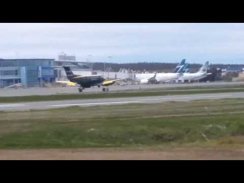General Aviation Action at YYT and a Westjet 737-7CT Takeoff