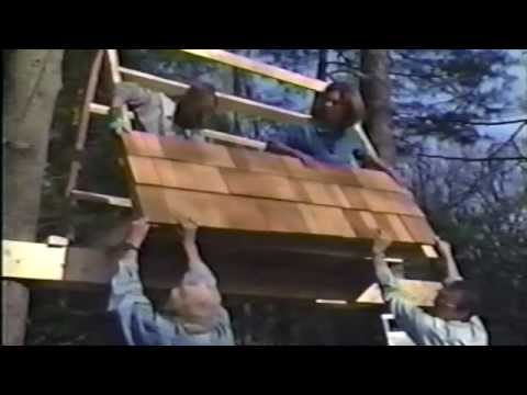 A-Frame Treehouse Built in 1 Day by Stiles Designs