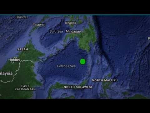 Powerful 5.8 EARTHQUAKE struck CELEBES SEA S of Philippines