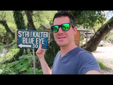 Albanien von seiner schönsten Seite: Die Karstquelle Syri i Kaltër (Blue Eye) - Vlog #16