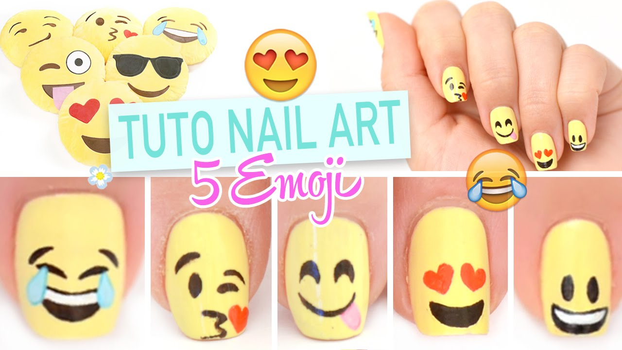 - ♡ Emoji Nail Art - YouTube