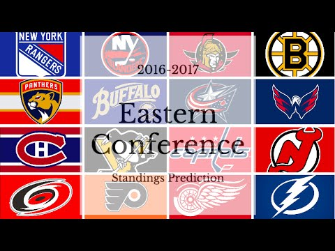 2016-2017 NHL EASTERN CONFERENCE STANDINGS PREDICTION!