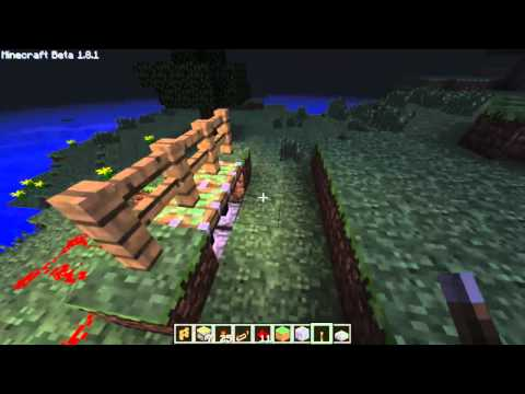 Minecraft How To Make Fence Gate Using Sticky Pistons
