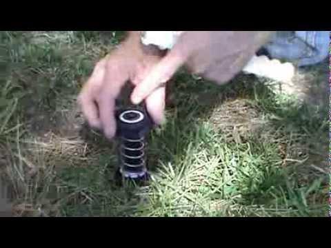 RainBird 1800 series Sprinkler Flow Control disc field installation demo