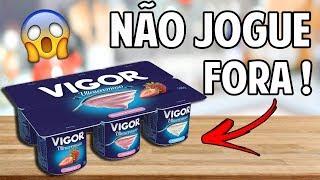 DIY: DO LIXO AO LUXO - COMO REUTILIZAR POTINHOS DE IOGURTE