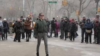 Cristina Ruales NYFW Flash Mob Fall Runway