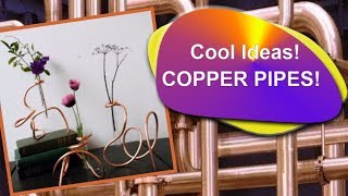 37  ideas for decorating with copper pipes
