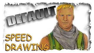 Speed Drawing Fortnite Default Skin