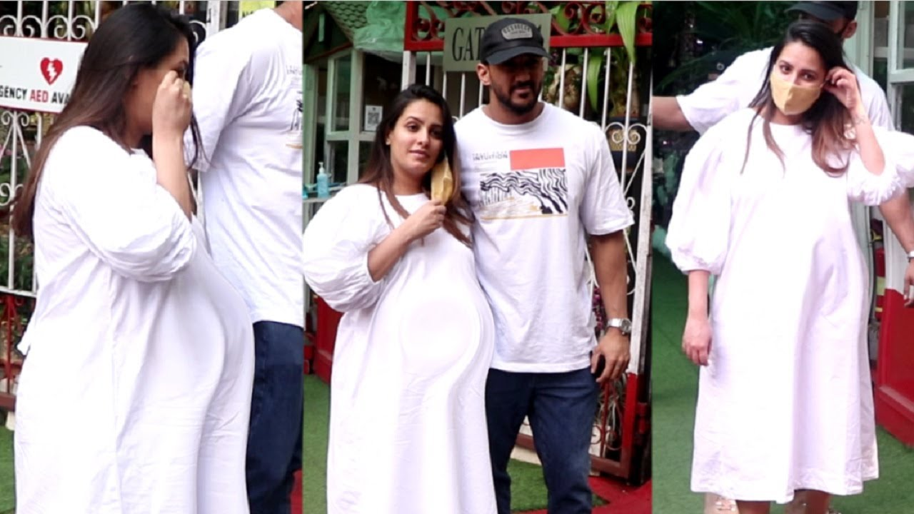 NAAGIN Fame Anita Hassanandani Walks With MASSIVE Baby Bump In 9th Month Of Pregnancy!