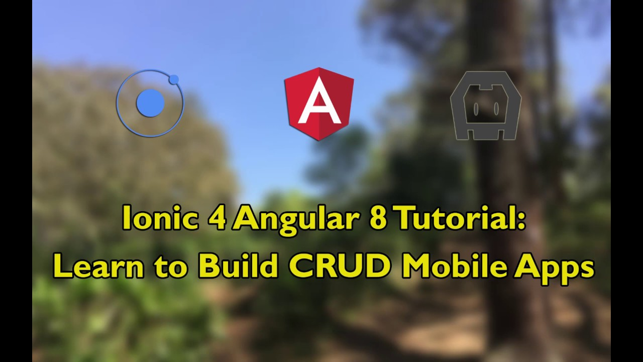 Ionic 4 Angular 8 Tutorial: Learn to Build CRUD Mobile Apps