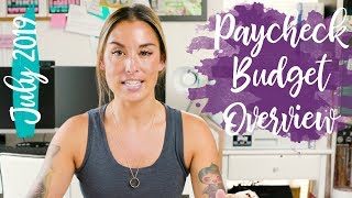 July 2019 Paycheck Budget Overview