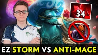 Miracle Storm Spirit vs Anti-Mage — ez 34 Bloodstone charges