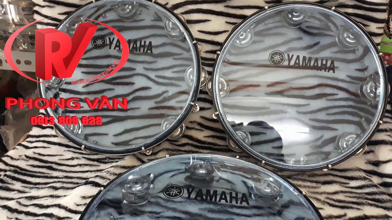 SIÊU HOT-Trống lắc tay – Lục lạc gõ bo Tambourine Yamaha CAO CẤP 390k