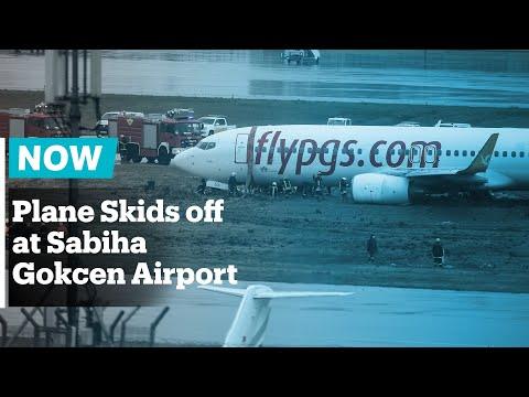 Flights halted in Istanbul as plane skids off Sabiha Gokcen Airport