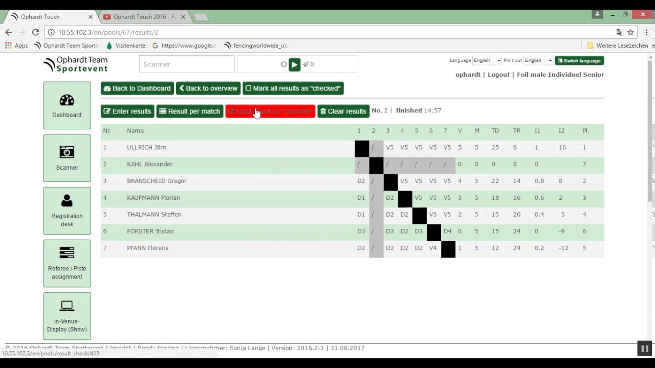 Pool result - create Elimination direct