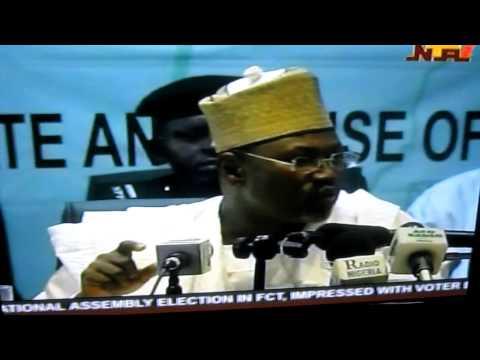 Prof Attahairu Jega-INEC Chairman: Press Conference on Nigeria Election 4/2011