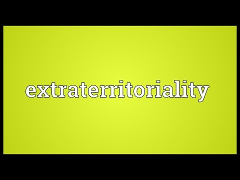 Header of extraterritoriality