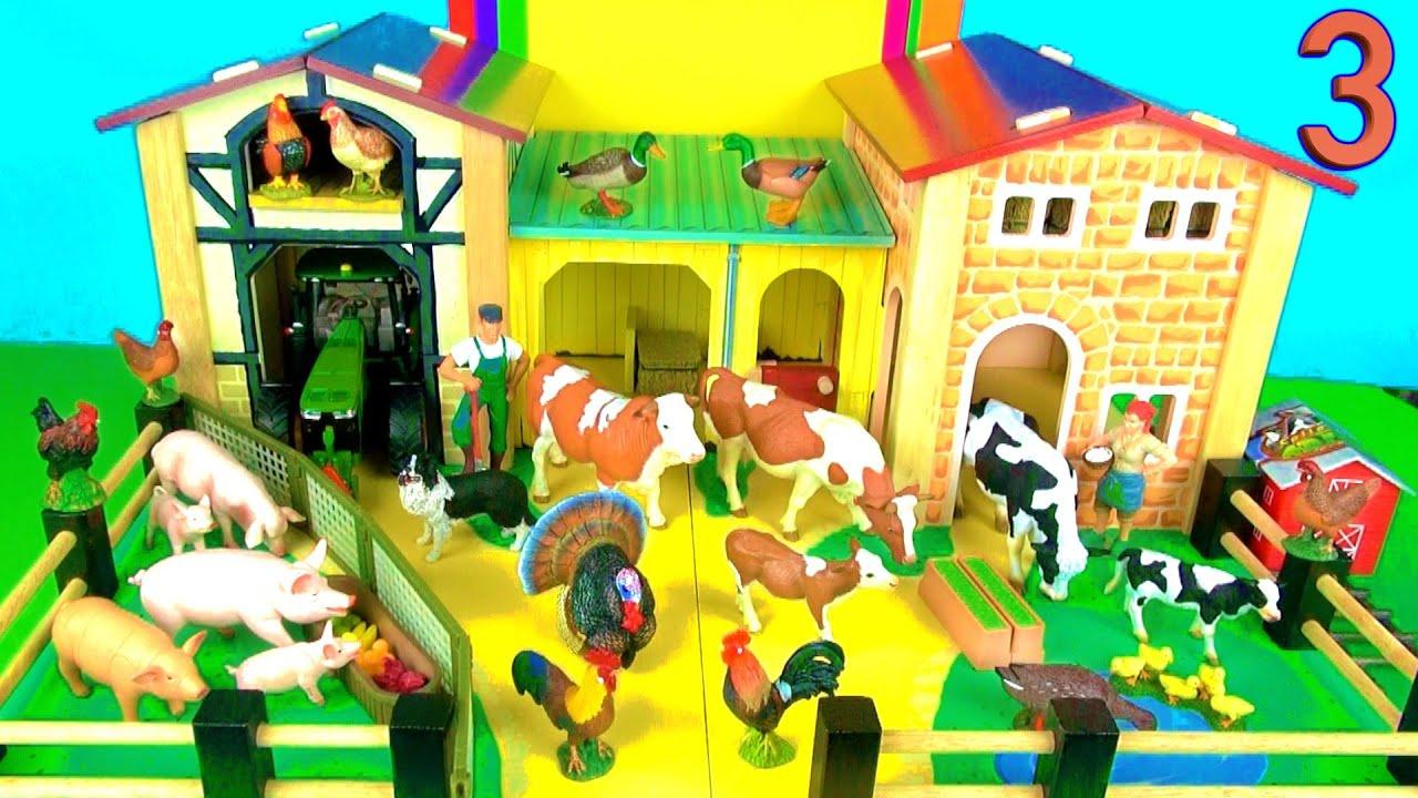 16 Country Farm Animals Surprise Toys 3D Puzzle Pig Pig Cow Dog