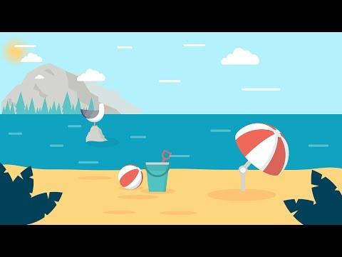 Design Process : Beach Scene Illustration - Illustrator CC