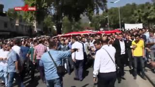 K.Maraş'ta Şehit Ahmet Unkun'un cenazesinde izdiham ve gerginlik çıktı