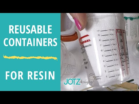 Reusable containers for measuring and mixing resin. (Follow up to Resin Mixing video)
