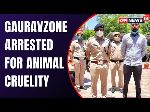 GauravZone Arrested By Delhi Police   Youtuber Gaurav Arrested For Cruelty With His Pet Dog Dollar