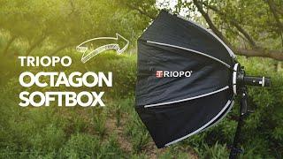 TRIOPO 90cm Foldable Octagon Softbox JUST LOVE IT!