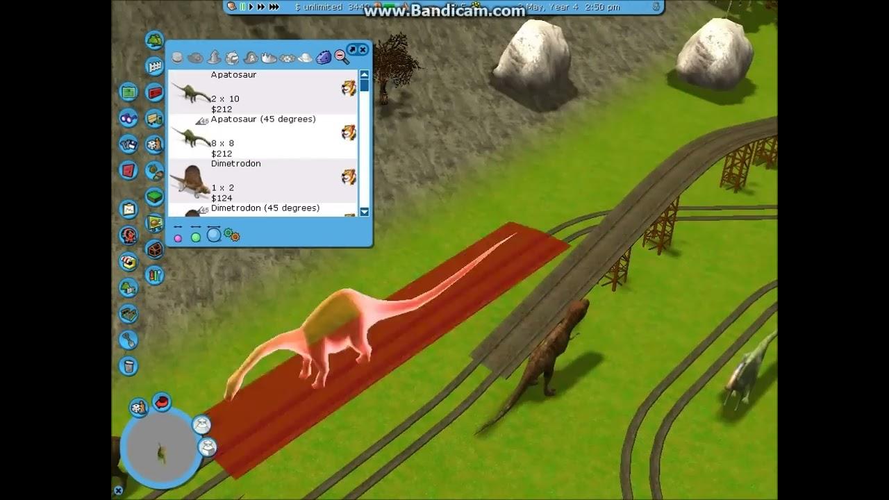 rct3 building a jurassic park ride dinotopia progress