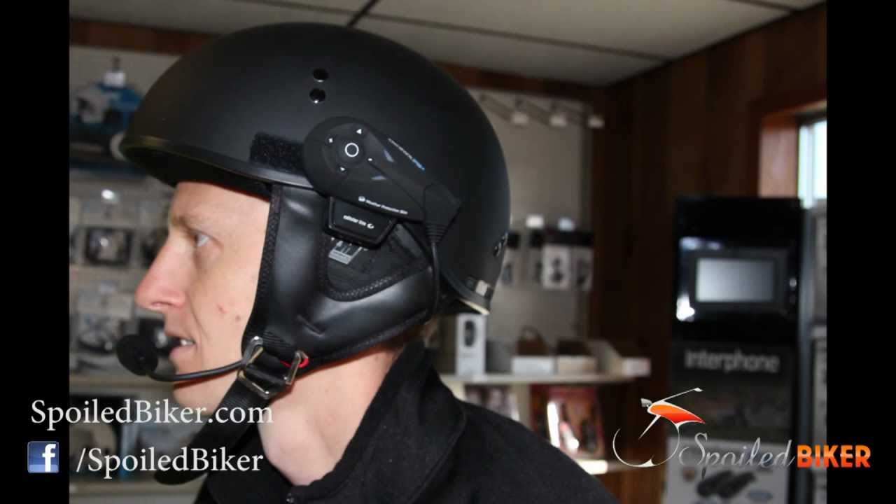Interphone F10 Half Helmet Installation: How To Install The Interphone F10  Bluetooth Headset On Shorty