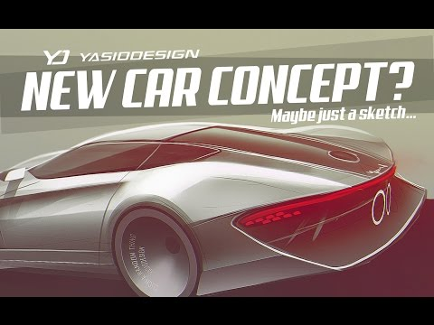 New car concept? See how the sketch and render is made - Yasid design