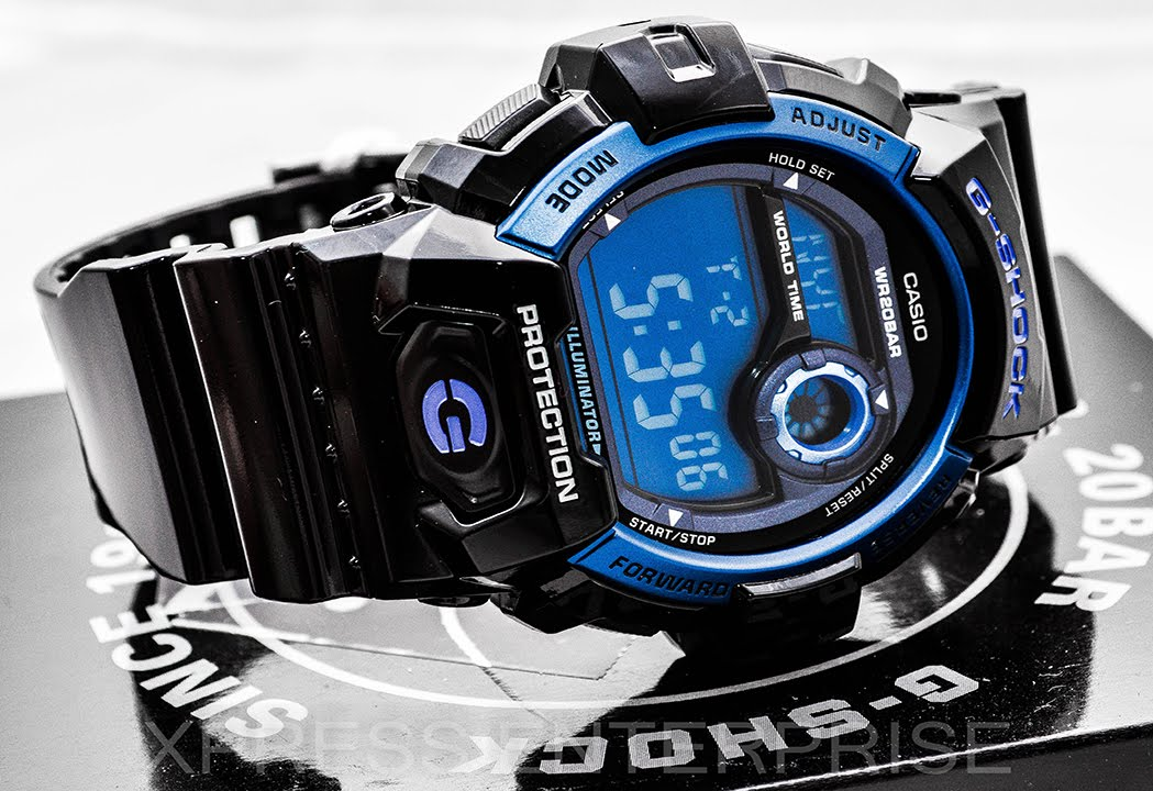 online store 6a749 215c3 Casio GSHOCK Blue G8900A-1 REVIEW | How To Set Time | LIGHT DISPLAY