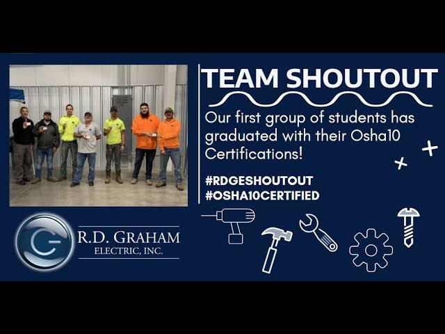 Team Shoutout - OSHA 10 Certifications!