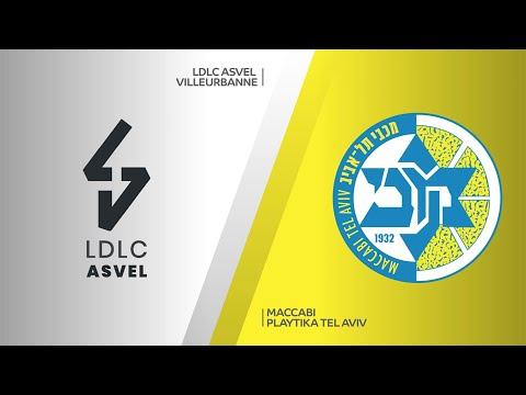LDLC ASVEL Villeurbanne - Maccabi Playtika Tel Aviv Highlights   EuroLeague, RS Round 14