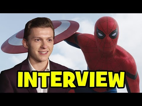 TOM HOLLAND Interviews - Spider-Man Homecoming & Captain America Civil War