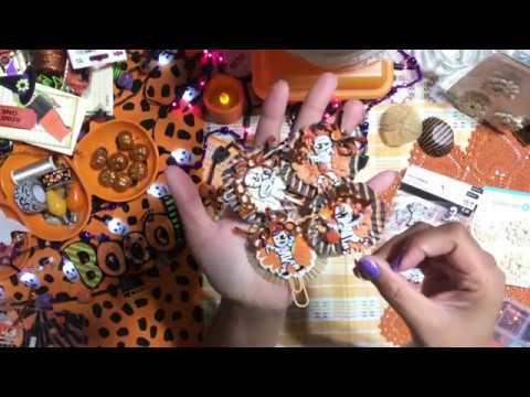 #5  Halloween 👻 Craft Series 2019 - DIY Paper Clip Zombie  Mummy Embellishments