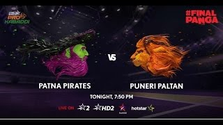 Pro Kabaddi League 2016 Season 4, Semi Final 1, Patna Pirates vs Puneri Paltan Pictures