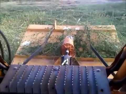 Home Made Bush Hog On Skid Steer Version 2 Pto To