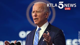 President-elect joe biden on jan. 14 unveiled his $1.9 trillion plan to stem the coronavirus and provide financial help americans.story: https://ktla.com/...